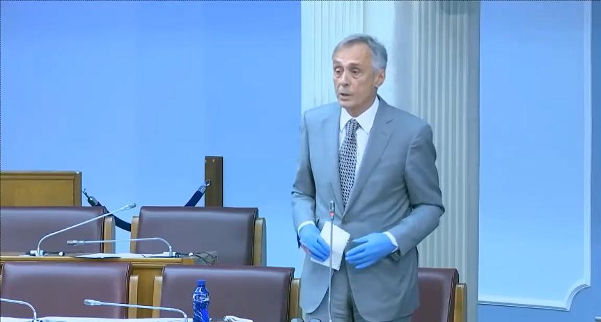 Miodrag Lekić - prvo obraćanje u proljećnom zasjedanju Skupštine